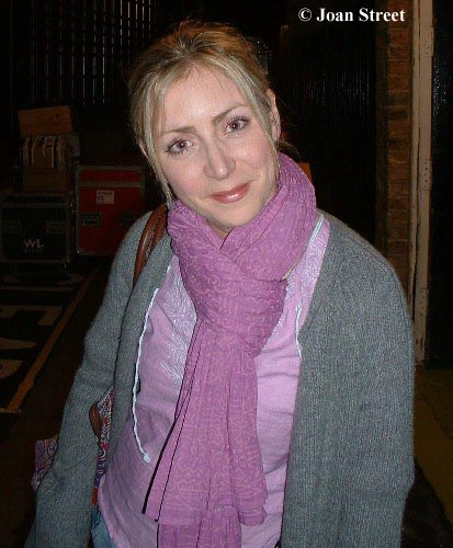 Laura Howard outside Richmond Theatre after the showLaura Howard